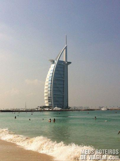 Hotel Burj Al Arab visto da Jumeirah Beach - Dubai