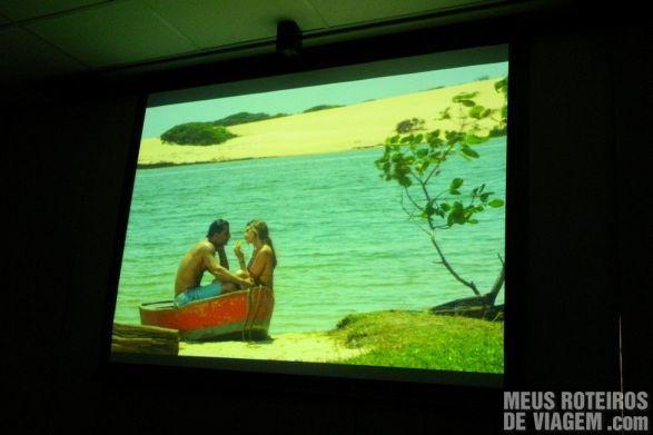 """Imagens de """"Flor do Caribe"""" no telão"""