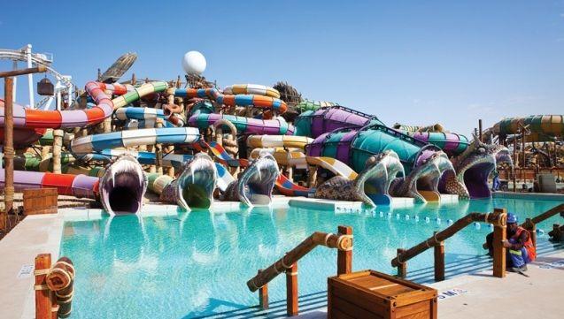 Parque aquático Yas Waterworld (fonte: constructionweekonline.com)