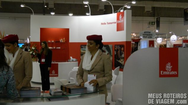 Estande da Emirates na WTM Latin America 2013