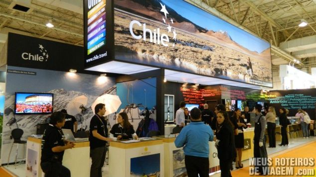 Estande do Chile na WTM Latin America 2013