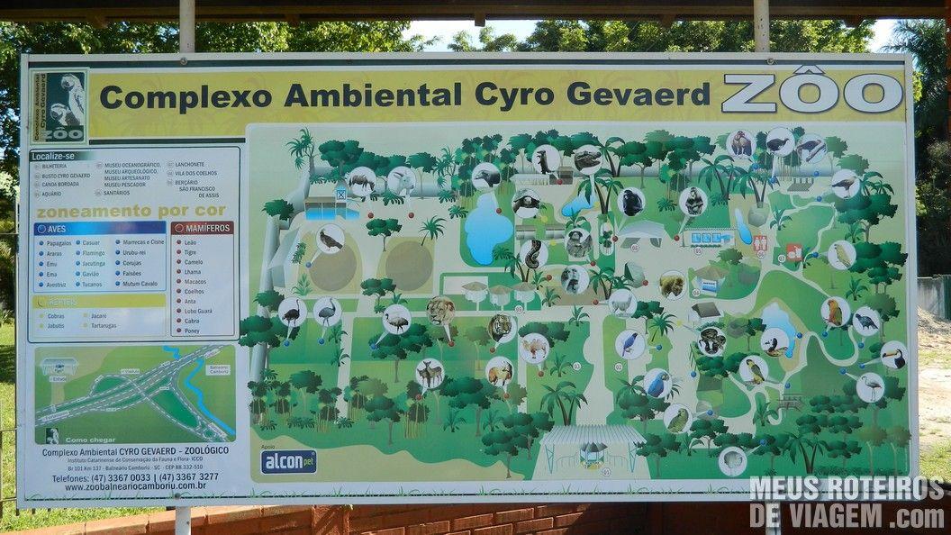 Mapa do Zoológico de Balneário Camboriú