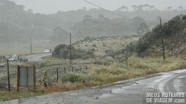 Neve em Vacas Gordas - Urubici / Santa Catarina