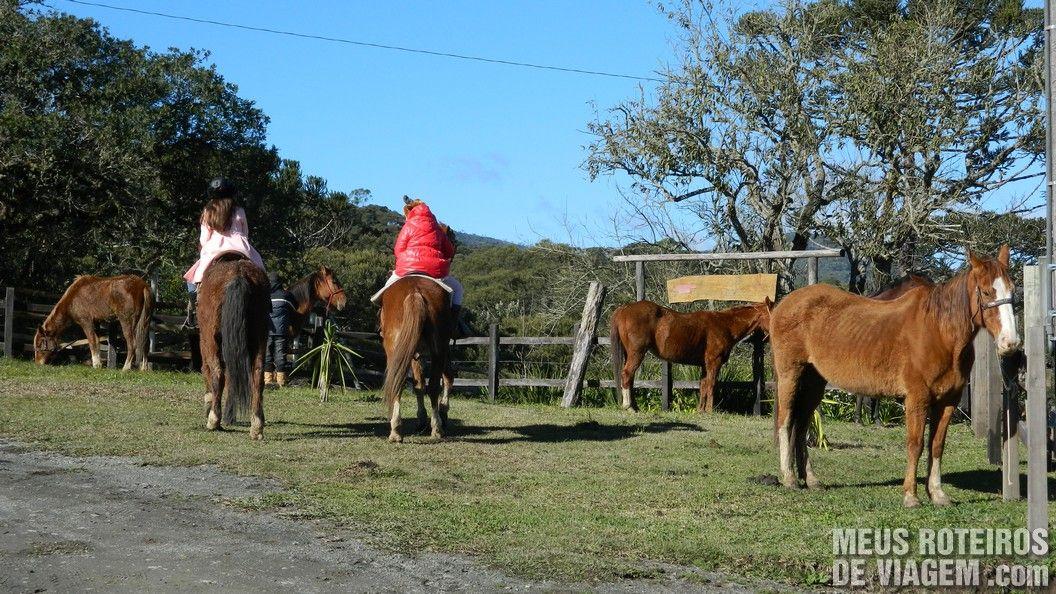 Cavalos na Pousada Trinca Ferro