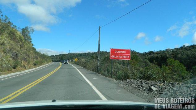 SC-439 entre Rio Rufino e Urupema