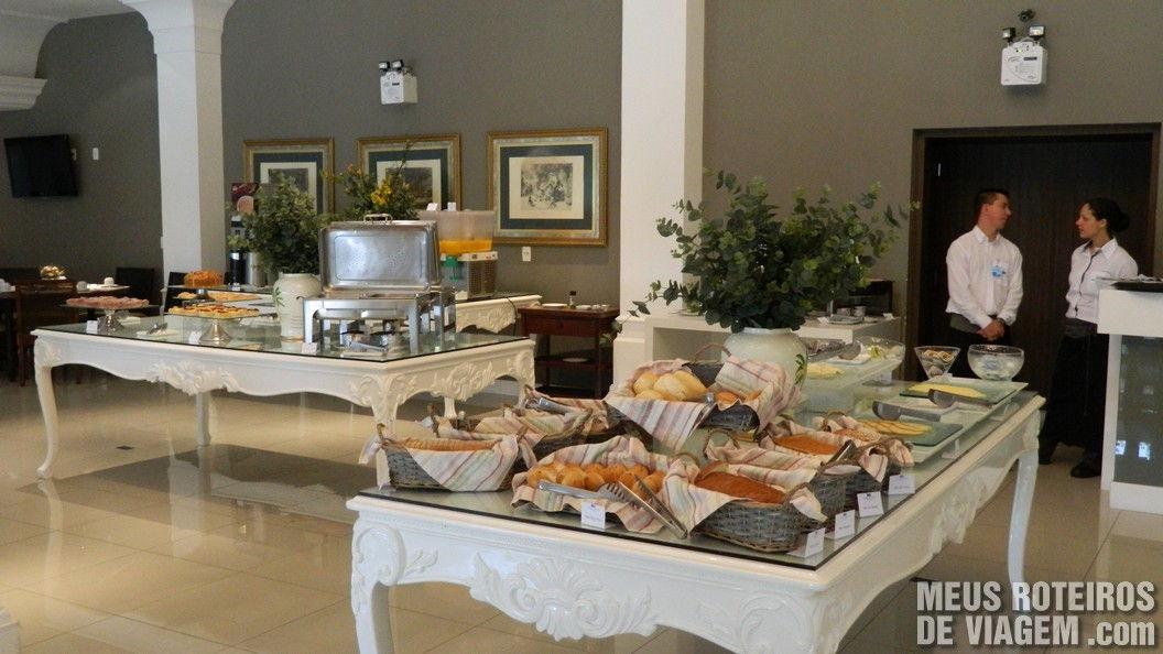 Café da manhã do Infinity Blue Resort e SPA - Balneário Camboriú