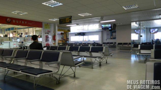 Sala de embarque internacional do aeroporto de Florianópolis