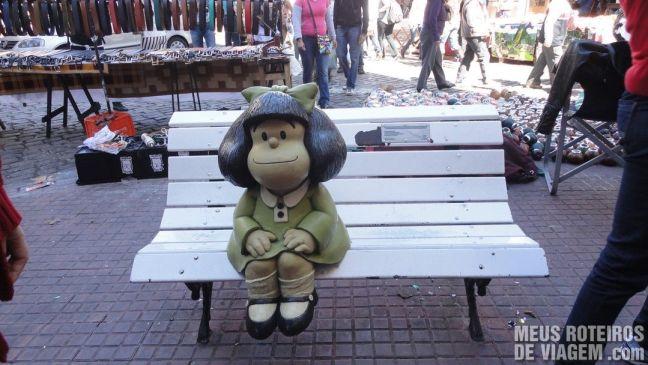 Boneca Mafalda em San Telmo - Buenos Aires