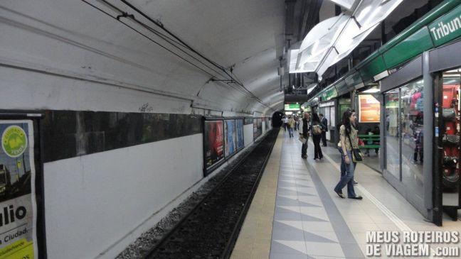 Estação Tribunales - Linha D / Verde