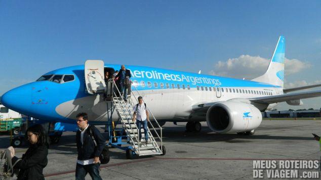 Desembarque no Aeroparque - Buenos Aires