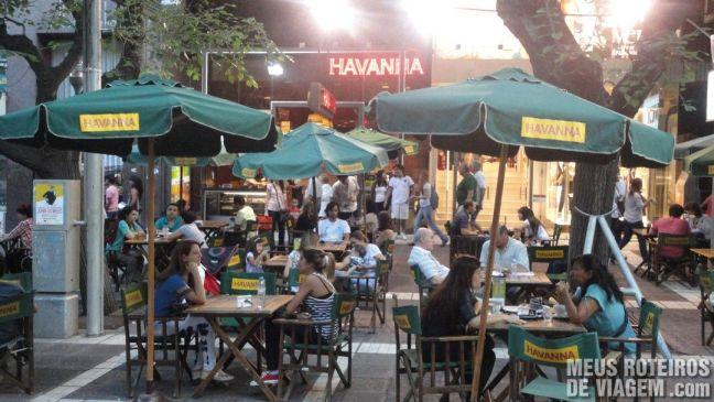 Café Havanna no calçadão Paseo Sarmiento - Mendoza, Argentina