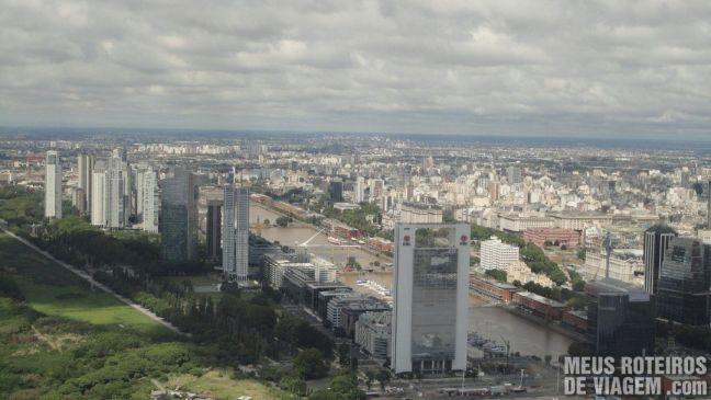 Puerto Madero visto do avião em Buenos Aires