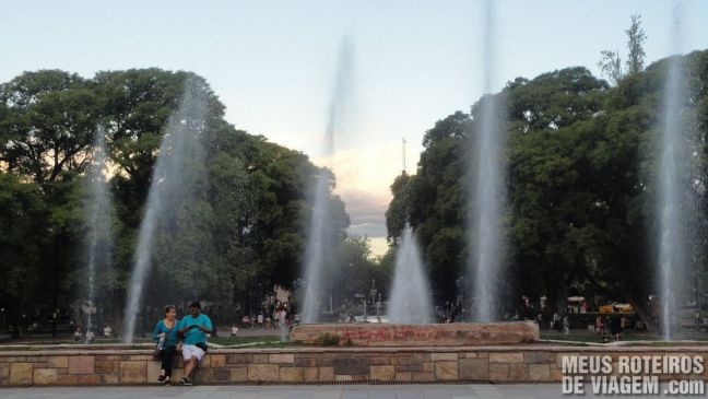 Fonte na Plaza Independencia - Mendoza, Argentina