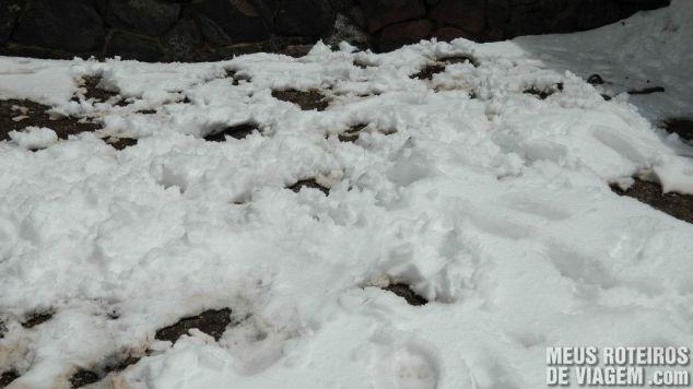 Neve no Cristo Redentor de Los Andes