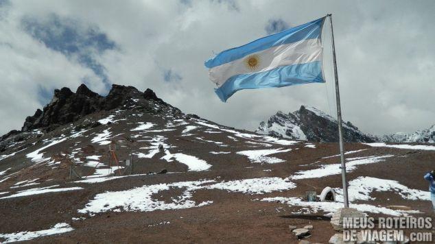 Bandeira da Argentina no território argentino