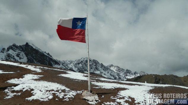 Bandeira do Chile no território chileno