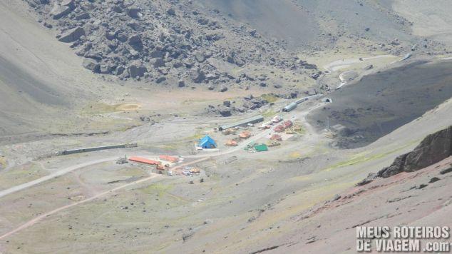 Povoado de Las Cuevas, visto da estrada durante a descida