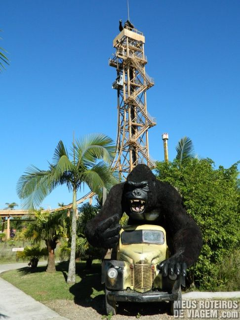 Elevador Free Fall - Parque Beto Carrero World Penha/SC
