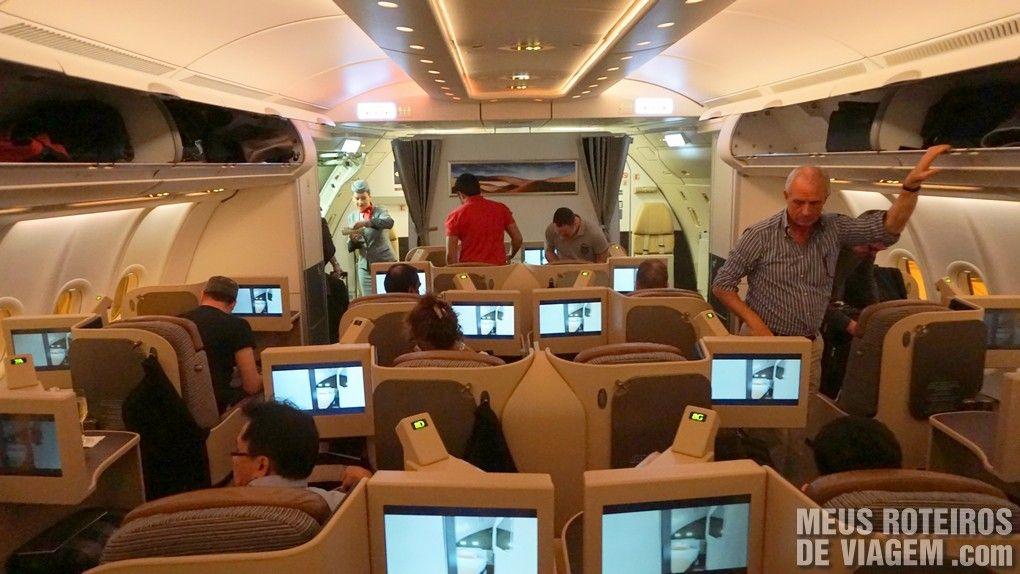 Classe executiva do A330 da Etihad Airways - Business Class