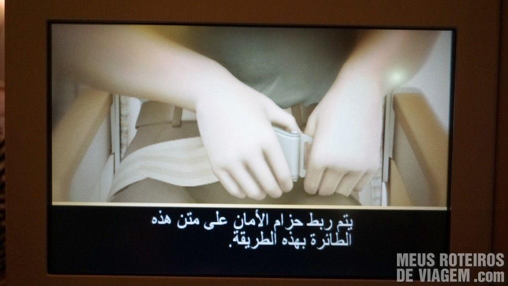 Instruções de segurança em árabe