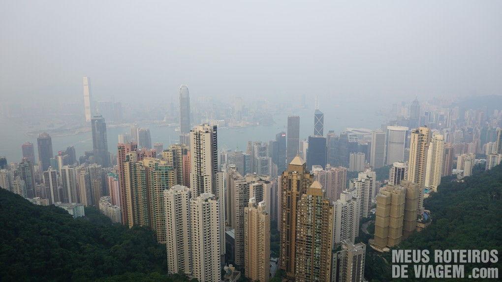 Hong Kong - vista do mirante no The Peak