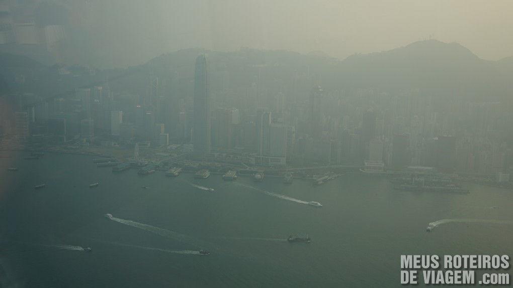 Edifícios na região central de Hong Kong - vista do sky100