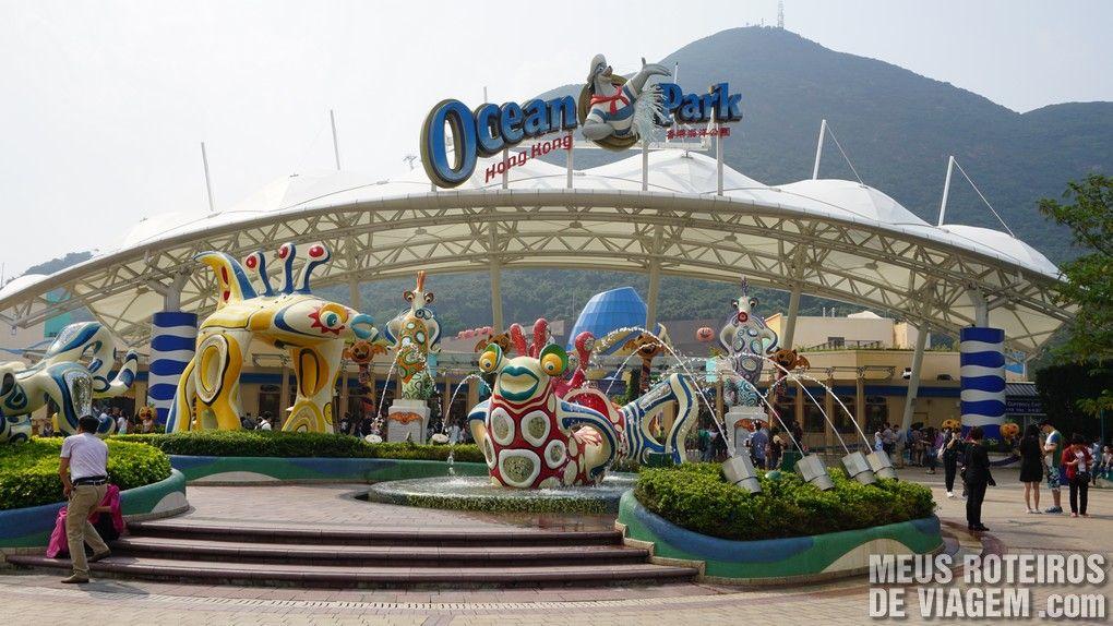 Entrada do Ocean Park - Hong Kong