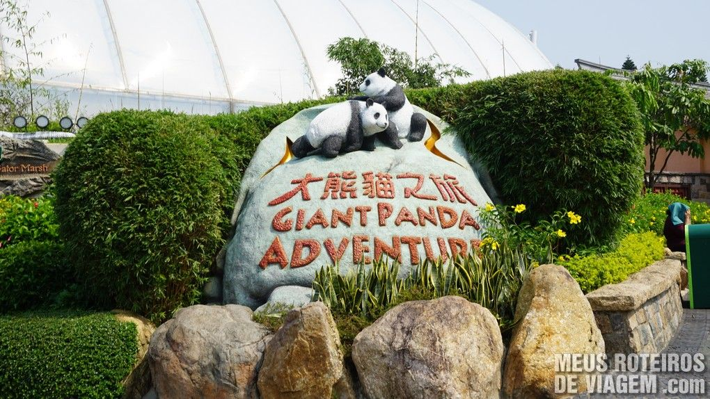 Espaço dos Pandas no Ocean Park - Hong Kong