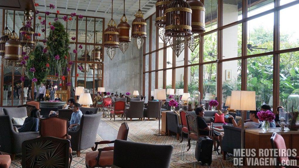 Recepção do hotel Mandarin Oriental Bangkok
