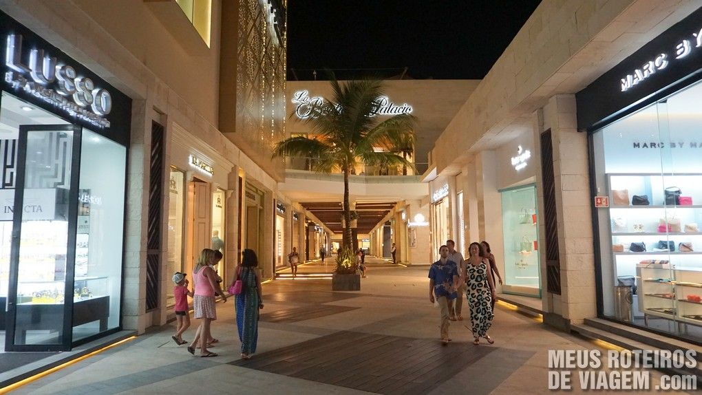 Área de luxo do La Isla Shopping - Cancun