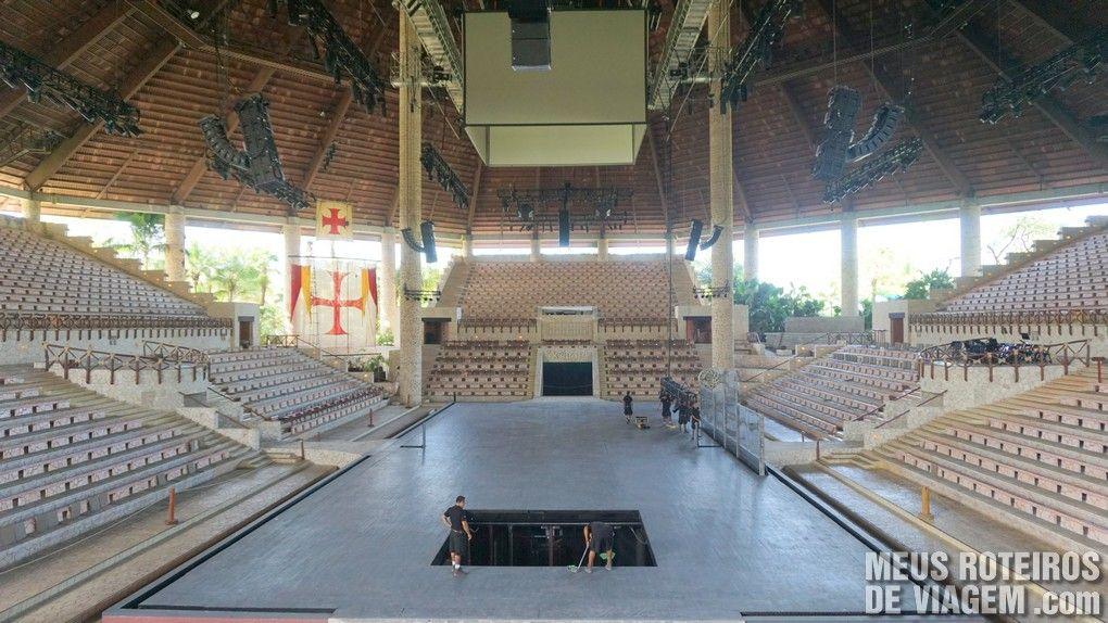"""Arena do show """"México Espetacular"""" no Parque Xcaret"""