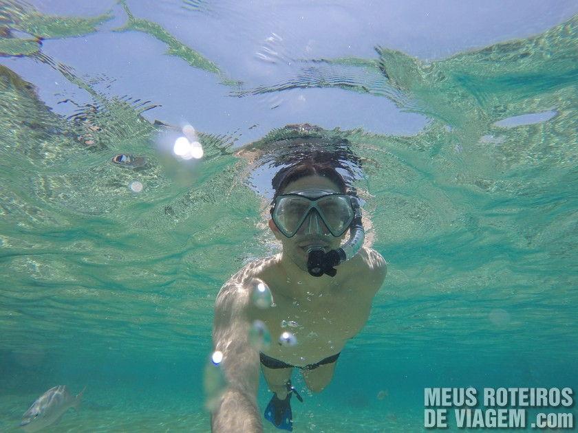 Mergulho com snorkel em frente ao The Money Bar - Cozumel, México
