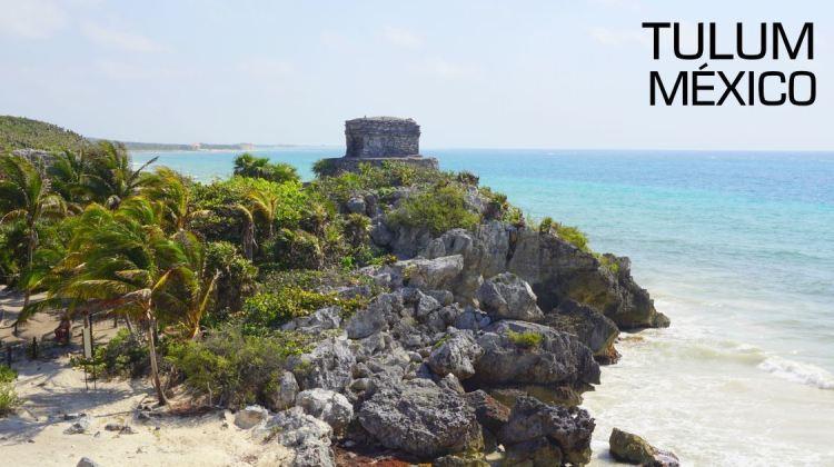 Ruínas maias e o mar do caribe mexicano - Tulum, México