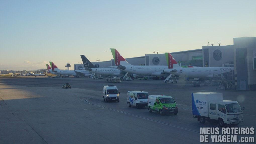 Aviões da TAP no Aeroporto de Lisboa