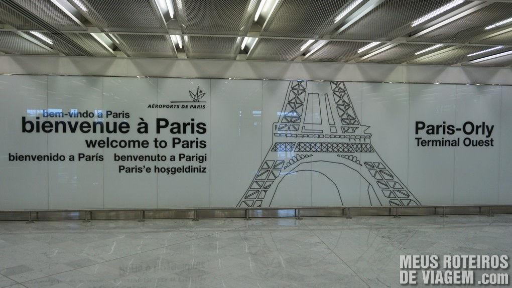 Bem-vindo à Paris - Aeroporto de Paris-Orly