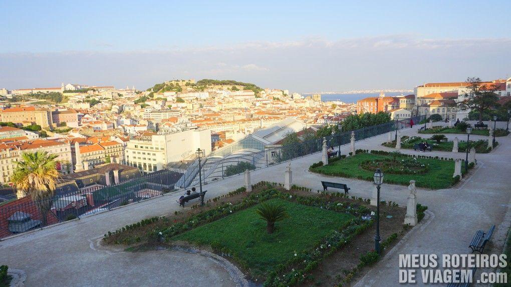 Miradouro de São Pedro de Alcântara - Lisboa. Portugal