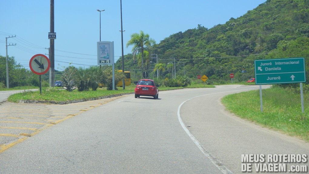 Trevo de acesso a Jurerê Internacional - Florianópolis