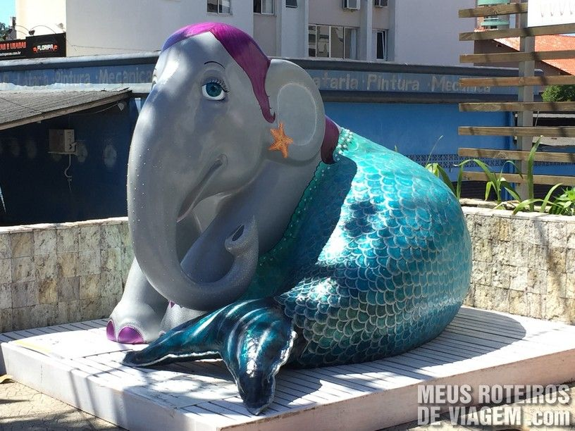 """Elefante """"A Grande Sereia"""", por Thuany Braga"""