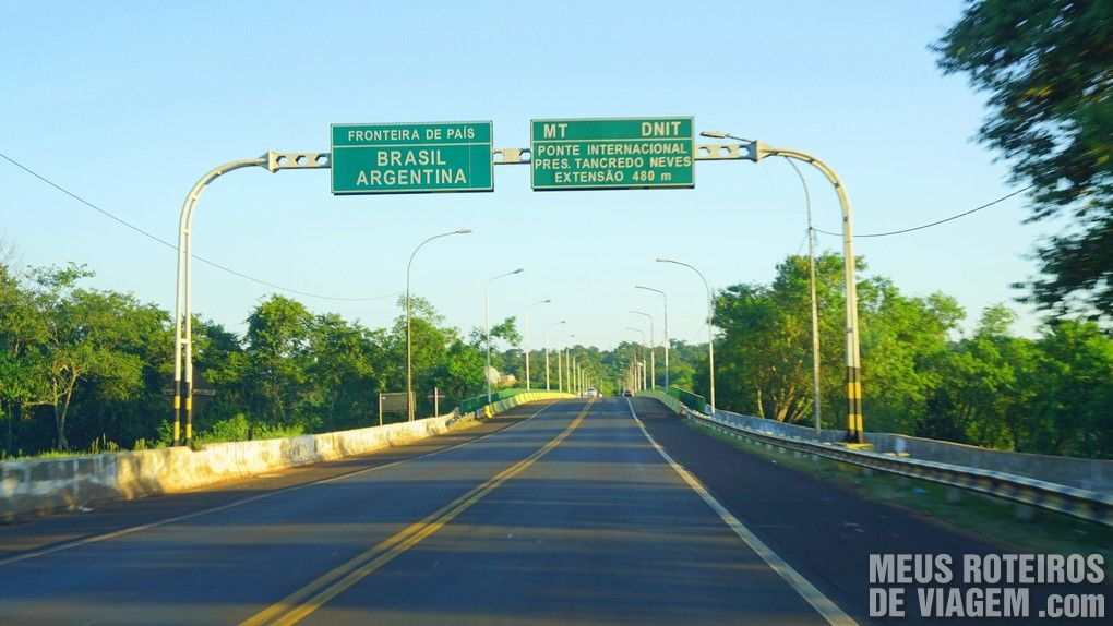 Ponte Tancredo Neves - divisa Brasil / Argentina
