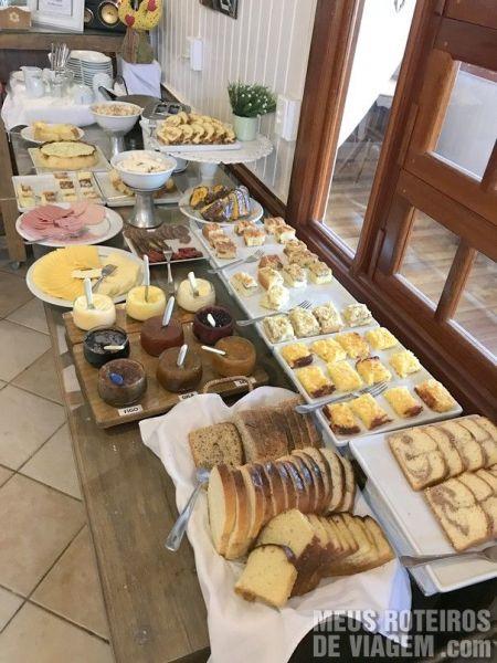 Café da manhã de Serra Bella, em Urubici
