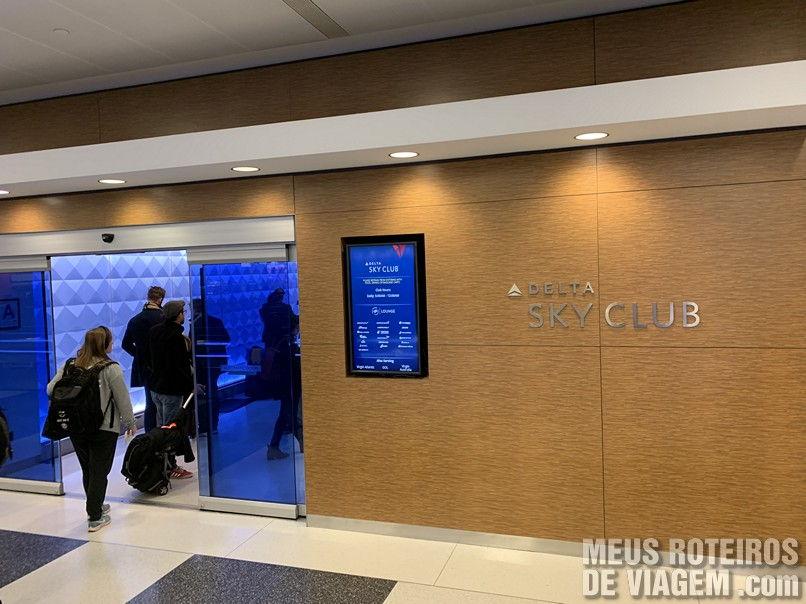 Sala Vip Sky Club da Delta no Aeroporto JFK