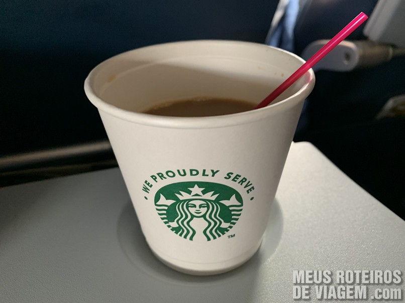 Café Starbucks na Delta Airlines