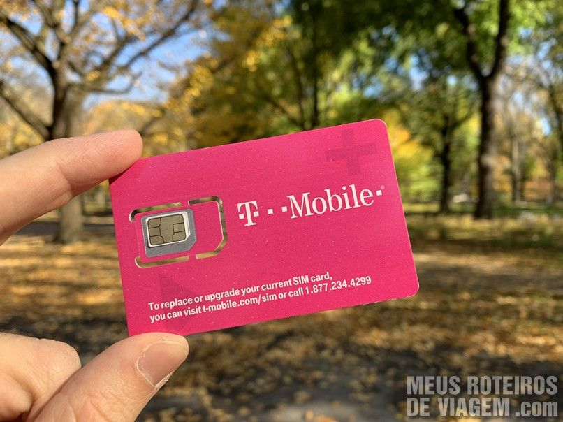 Chip da Easysim4u no Central Park - Nova York
