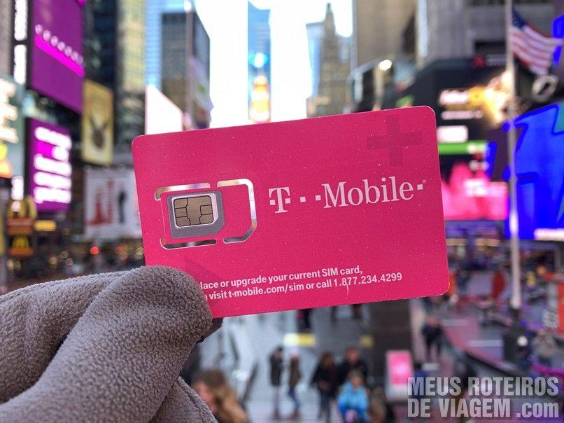 Chip da T-Mobile fornecido pela Easysim4u