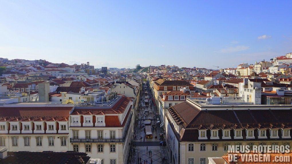Baixa de Lisboa vista do Arco da Rua Augusta