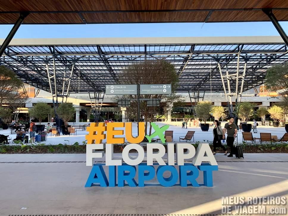 Entrada do Boulevard 14/32 no Aeroporto de Florianópolis