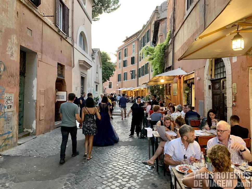 Restaurantes no bairro Trastevere, Roma