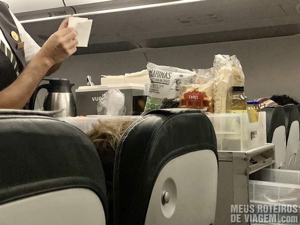 Serviço de bordo da Vueling Airlines