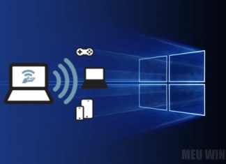 Hotspot móvel no Windows 10
