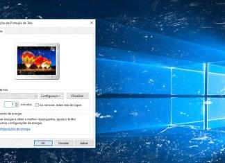 Fotos como proteção de tela no Windows 10